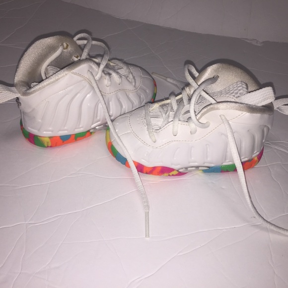 9846af83b56 Nike toddler girls fruity pebble foamposites 5c. M 5acb935c84b5ce15ab5e9d87